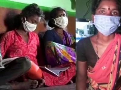 کرناٹک کے ضلع گدگ میں ماں نے اپنے بچوں کی تعلیم کے لئے ٹی وی خریدنے کے لئے