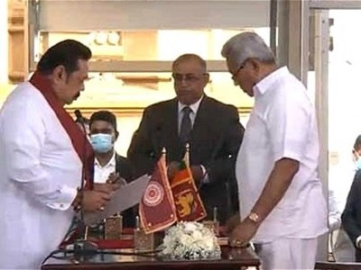 Mahinda Rajapaksa sworn-in as Sri Lanka PM for fourth time