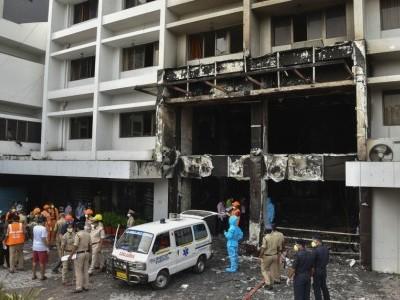 آندھراپردیش کے وجے واڑہ میں ایک کوویڈ 19 قرنطینہ مرکز میں لگی آگ، 10 افراد ہلاک