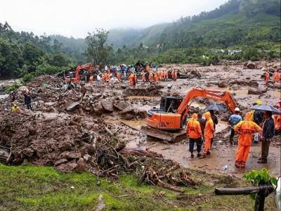 کیرالہ لینڈ سلائیڈنگ: مرنے والوں کی تعداد 23 ہوئی، لاپتہ افراد کی تلاش میں ریسکیو آپریشن