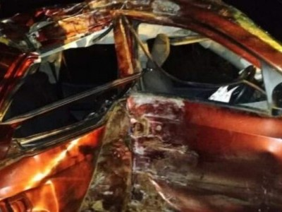 شیموگہ کے قریب کار حادثہ : دو ہلاک چھ زخمی