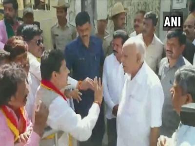 BS Yediyurappa meets pro-Kannada activists in Bengaluru