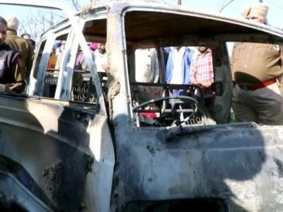سنگرور: اسکول وین میں آگ لگنے سے حادثہ، معصوم بچے زندہ جلے، 4 کی موت