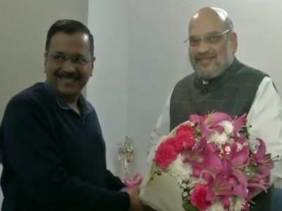 Arvind Kejriwal meets Home Minister Amit Shah
