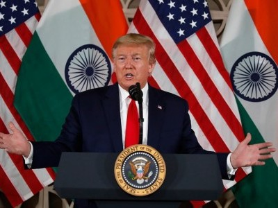 US President Donald Trump describes Kashmir as 'big problem' in India visit