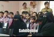 بھٹکل انجمن نور مونٹیسری کے بچے شہری پولس تھانے میں