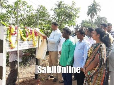MLA Sunil Naik lays foundation stone for development works in Bhatkal