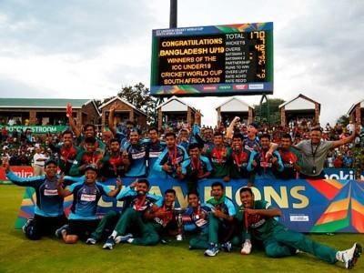 انڈر 19 ورلڈ کپ: بنگلہ دیش نے پہلا ورلڈ کپ خطاب جیت کر رقم کی تاریخ ، پانچویں مرتبہ چمپئن بننے کا ہندوستان کا خواب ٹوٹا