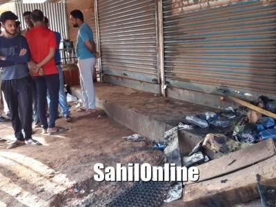 Miscreants set fire to automobile shop
