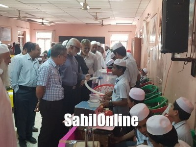 Science, Art and craft exhibition held at Islamia Anglo Urdu High School, Bhatkal