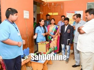 Art and Craft exhibition and leadership day celebration held at Beena Vaidya School, Murdeshwar