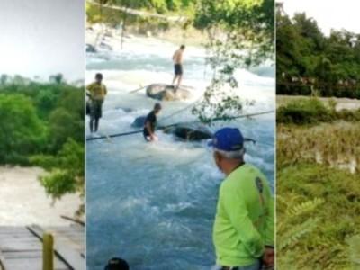 انڈونیشیا میں  پل گرنے سے9 افراد دریا میں ڈوب کرہلاک؛  17 کو بچالیا گیا