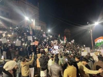 شہریت قانون کے خلاف انوکھا احتجاج، 15 منٹ کے لیے حیدر آباد میں چھا گیا اندھیرا!