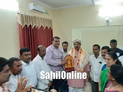 Revenue Minister R Ashok Visit Bhatkal: Bhatkal BJP feliciated