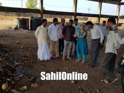 Mrs Almitra H Patel, Member Supreme Court Committee for Solid Waste Management visit Bhatkal Garbage dumping yard