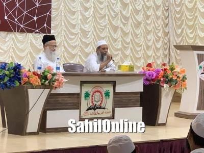 بھٹکل جامعہ اسلامیہ میں للجنتہ العربیہ کے زیراہتمام بعنوان 'ہندوستانی مسلمان اور حل ' محاضرہ : مسلمان برادرانِ وطن سے بہتر تعلقات پیدا کریں ؛ مولانا سید بلال حسنی