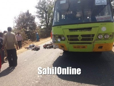 2 killed in Bus-Bike collision in Haliyal