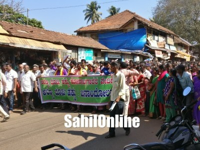 Forest Land Rights Agitation Vedike launch massive protest rally in Kumta