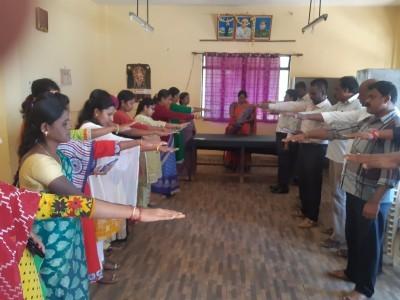 ಶ್ರೀನಿವಾಸಪುರದಲ್ಲಿ ಮತದಾರರಿಗೆ ಪ್ರತಿಜ್ಞಾ ವಿಧಿ ಬೋಧನೆ