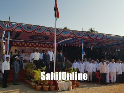 Republic Day 2020: Assistant Commissioner Sajid Mulla unfurls national flag in Bhatkal