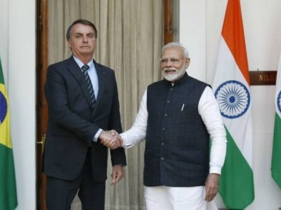 India, Brazil set target of USD 15 bn trade by 2022