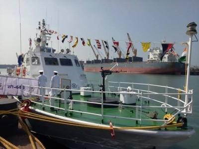 Coast Guard commissions interceptor boat C-448 at New Mangalore