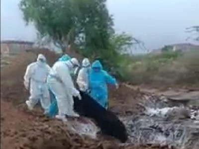 Video on dumping of COVID-19 victims'' bodies in Karnataka triggers outrage