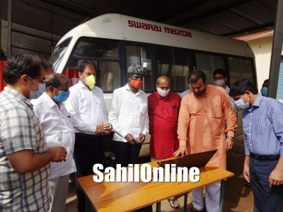Minister Kota Srinivas Poojary inaugurates govt Covid testing lab in Udupi