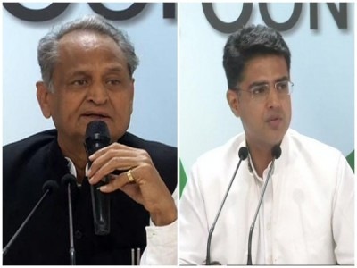 Gehlot, Pilot shake hands; all set for confidence vote