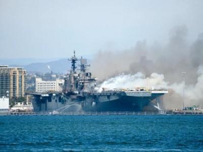 امریکی بحریہ کے سین ڈیاگو بیس پرآتشزدگی ،21 افراد زخمی