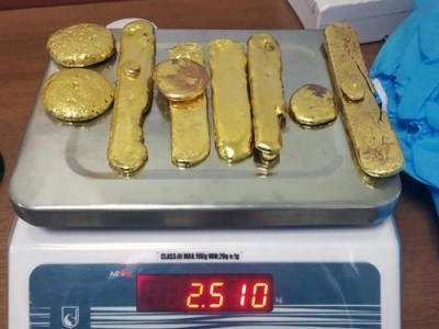2.5 kg of gold seized from seven passengers at Kannur Intl Airport