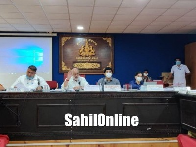 District In-Charge Minister Shivaram Hebbar holds review meeting with officials in Karwar