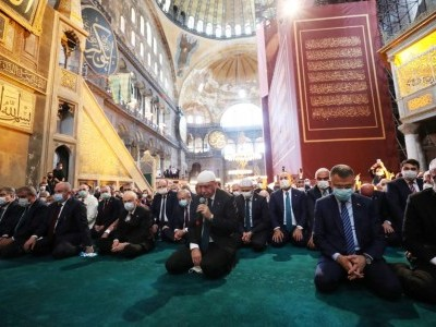 Erdogan Joins Hundreds Of Worshippers For First Muslim Prayers At Hagia Sophia