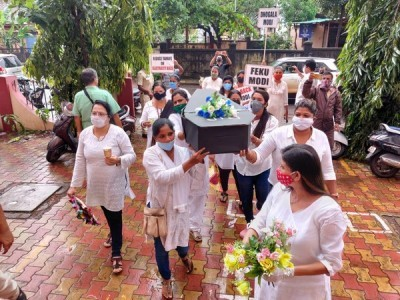 Goa Pradesh Mahila Congress Holds Protest Against BJP Govt Over 'High Electricity Bills' Amid COVID-19