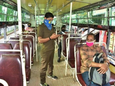 Coronavirus Lockdown: Private city buses in Mangaluru resume services
