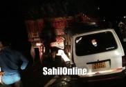 بھٹکل نیشنل ہائی وے پر ماروتی اومنی نے پیچھے سے لاری کو دی ٹکر؛ ڈرائیور زخمی