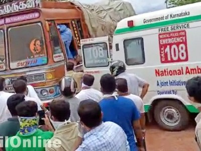 Driver found lying unconscious in truck in Honnavar; rushed to hospital