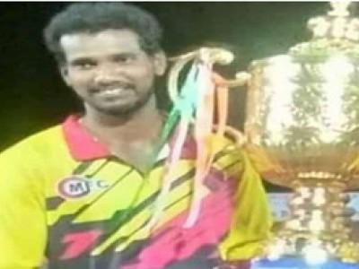 اڈپی کے ایک کرکٹ کھلاڑی پر میچ کھیلنے کے دوران پڑگیا دل کا دورہ، موقع پر ہلاک