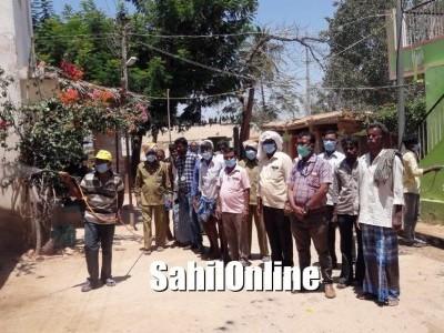 ಶ್ರೀನಿವಾಸಪುರ:ವೈರಾಣು ನಿರೋಧಕ ಔಷಧ ಸಿಂಪಡಣೆ