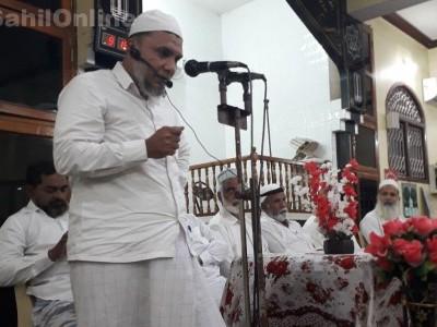 Condolence meet at Masjid Abubakar Siddiq Valki after sad demise of Jamatul Muslimeen president Meeran Siddibapa