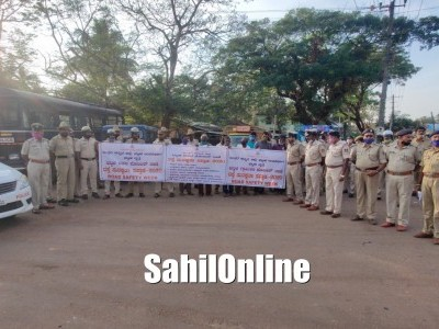 Bhatkal Police conducts rally as a part of 'Road Safety Week' campaign