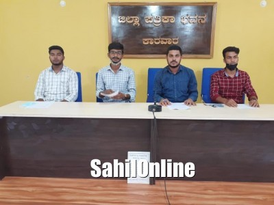 کاروار: اقلیتوں کے لئے اسکالرشپ اسکیموں میں آسانی پیدا کرنے اور رقم کو طلبہ کے کھاتے میں فوری جمع کرانے کا مطالبہ لے کر کیمپس فرنٹ آف انڈیا کی پریس کانفرنس