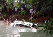 Car falls off bridge near Sirsi; 3 dead