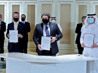 عرب مارات  اور اسرائیل کے مابین ویزا کی پابندی ختم کرنے کے معاہدہ پر دستخط