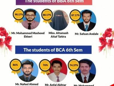 Bhatkal: Anjuman BBA, BCA students excel in examinations