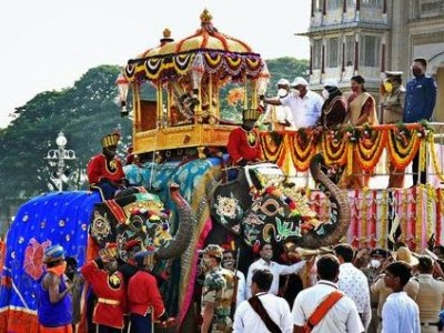 Tableau on Covid at Mysuru Dasara finale draws attention