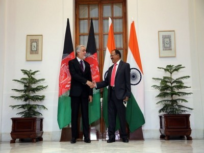 Afghanistan chief negotiator Abdullah Abdullah meets with NSA Ajit Doval