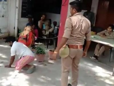 اترپردیش: پولیس اہلکار نے معذور شخص سے کی بدسلوکی، گھسیٹ کر لے گیا چوکی، ویڈیو وائرل