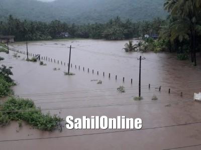 Heavy rains continue striking Uttara Kannada, low-lying areas asked to be vigilant