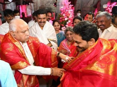 K''taka CM lays foundation stone for Rs 200 Cr pilgrims complexes at Tirumala